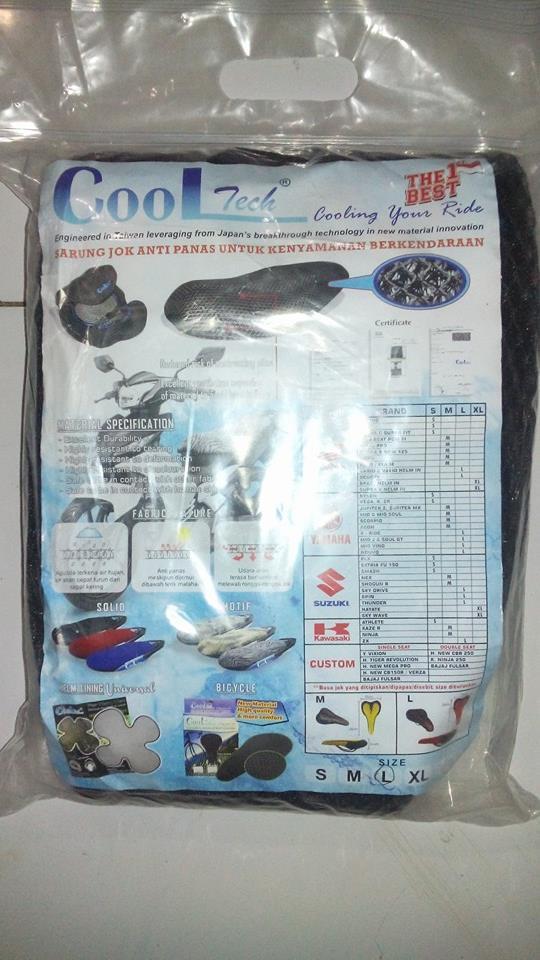 Sarung Jok Motor Cooltech XL  JOK motor anak  sarung hidrolik sandaran  belakang  kulit custom  nmax  cover jaring vario  beat  sandaran cover variasi  c70  mio  cb  rx king