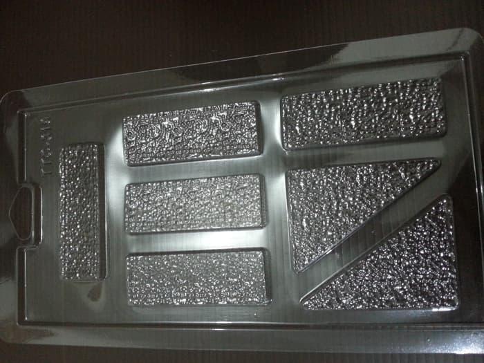 SALE - Cetakan Mika Coklat Pagar Wafer Segitiga Import