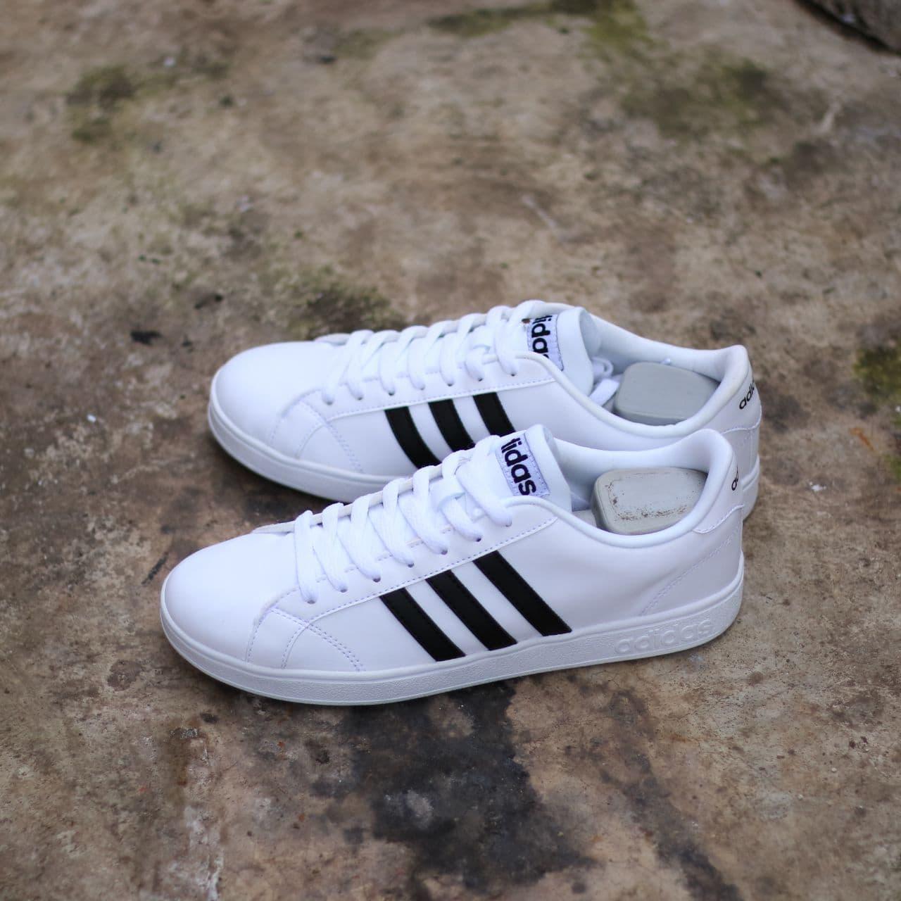 ... order adidas neo baseline original white black 247c7 ea1e4 38833fbd77