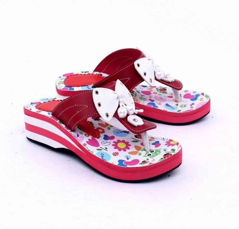 Garsel Shoes Sandal Kasual Anak Perempuan Merah Komb - GUJ 9022