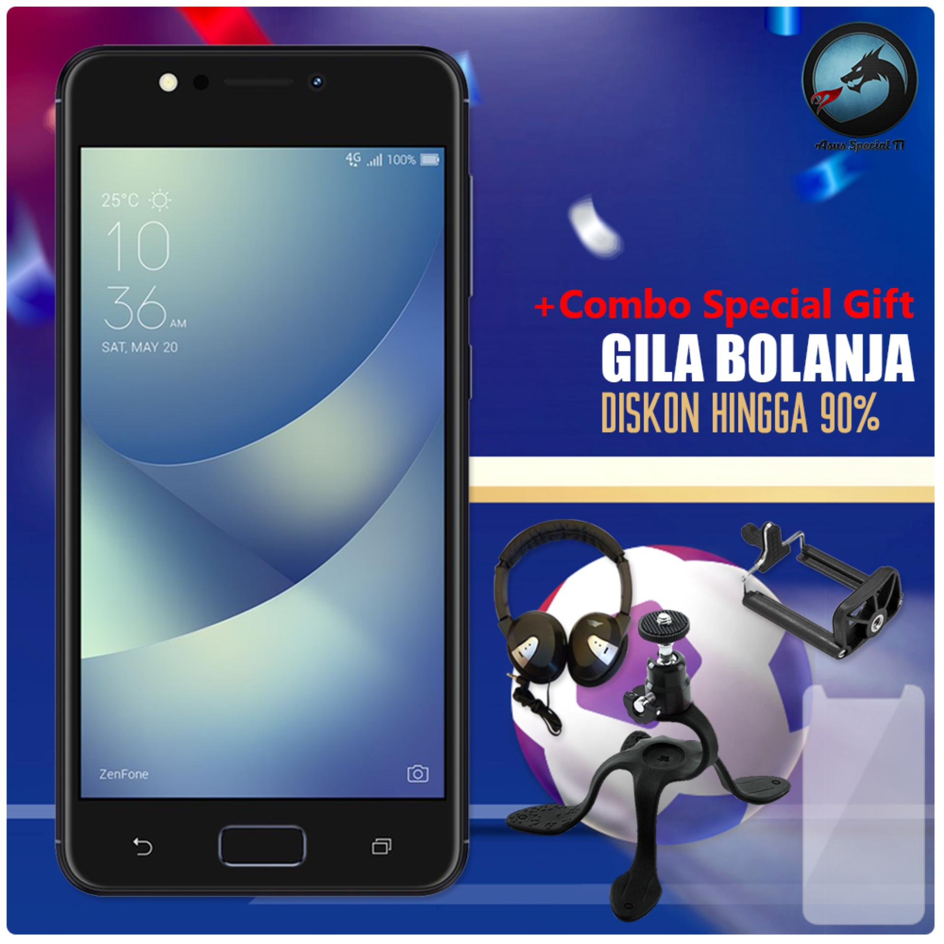 Asus Zenfone 4 Max ZC520KL 4G 3/32 13MP + 5MP + 8MP Resmi + Free Combo Special Gift