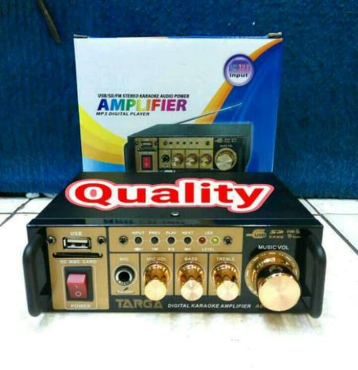 Original amplifier targa A06 digital karaoke Amplifier usb sd dan radio