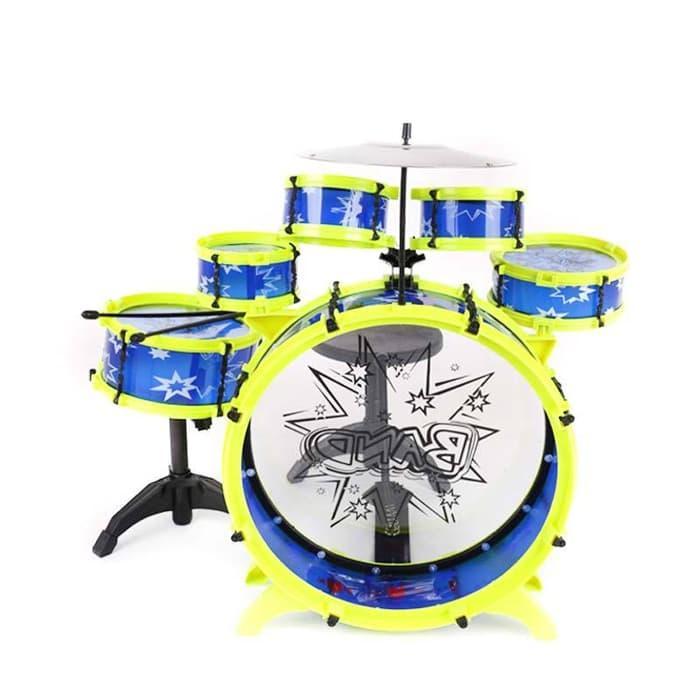 Mainan Anak Cewe Cowo Mainan musik anak Drum Set Big Band