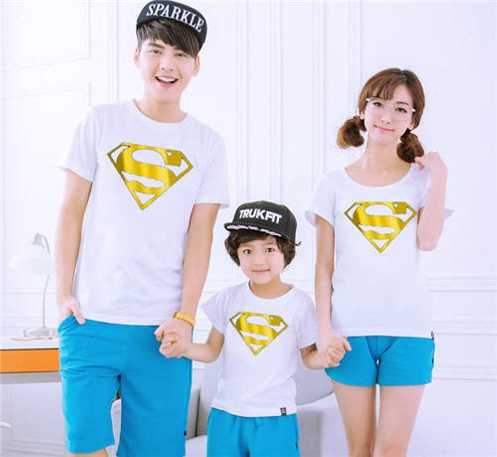 COUPLE FAMILY SUPERMAN GOLD FOIL (PUTIH) di lapak COUPLE GROSIR couplegrosir