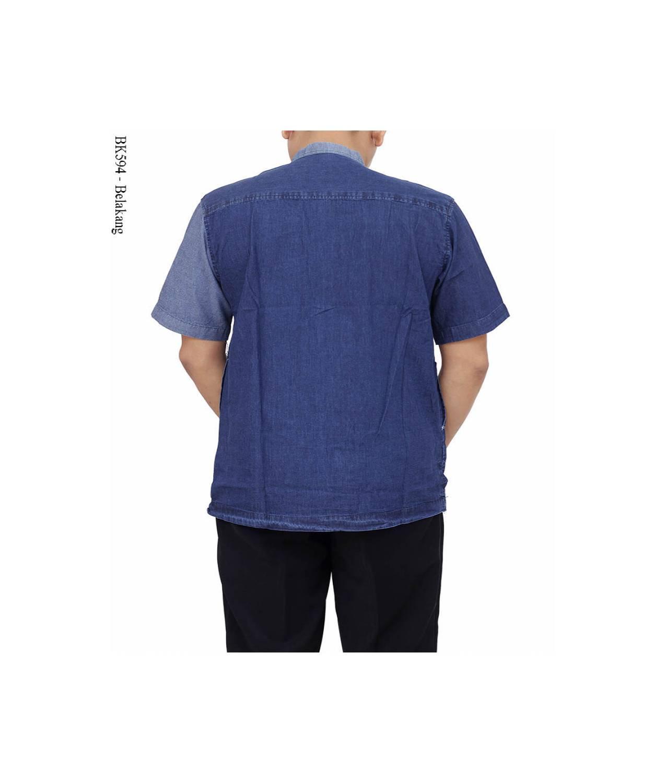baju koko albatar jeans/kemeja koko jaens/baju koko albatar/koko jae S