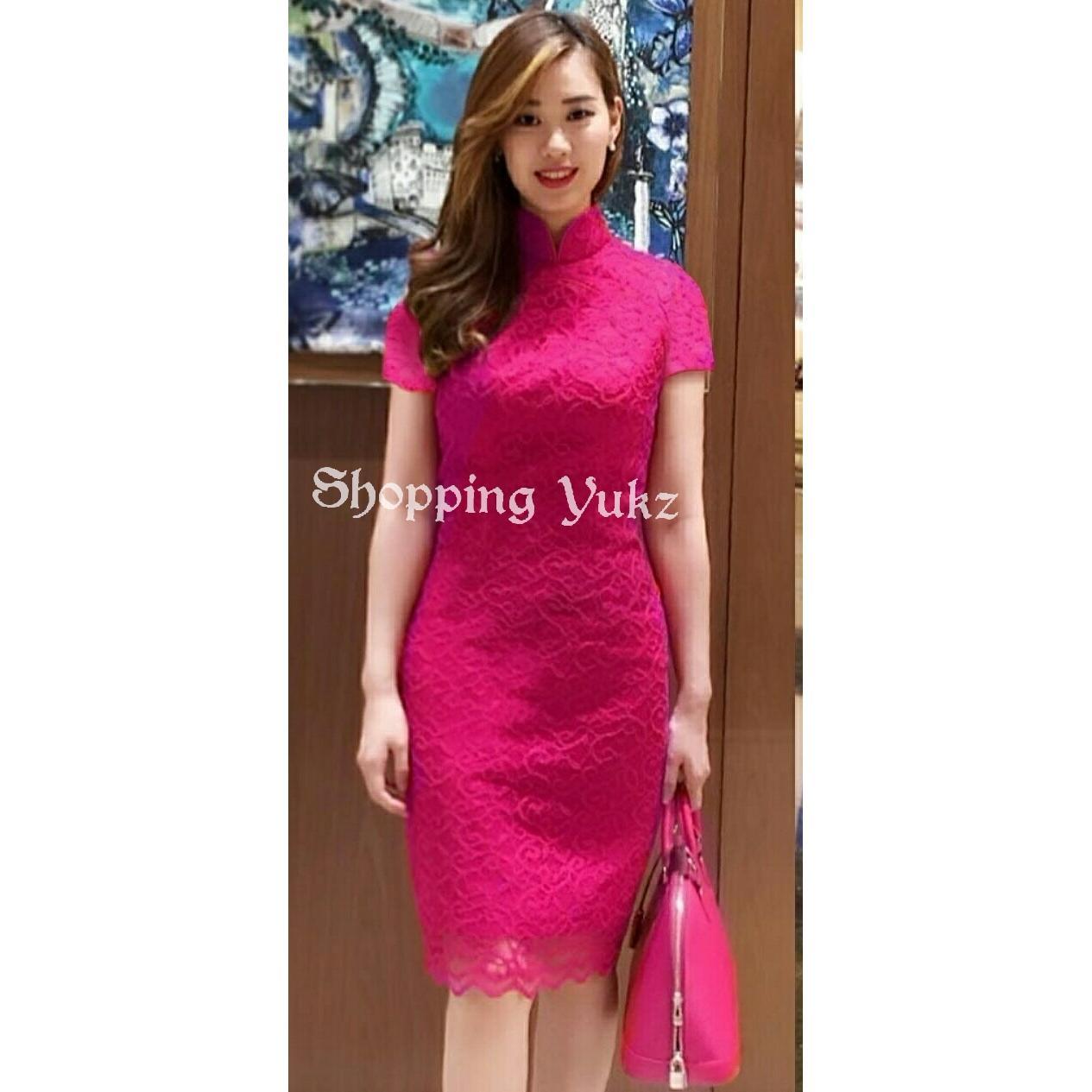 Shopping Yukz Dress Brukat Wanita ELBIE / Dress Korea / Dress Renda / Lace Dress / Gaun Pesta / Gaun Midi / Gaun Murah / Gaun Murah / Dress Cewek / Gaun Remaja