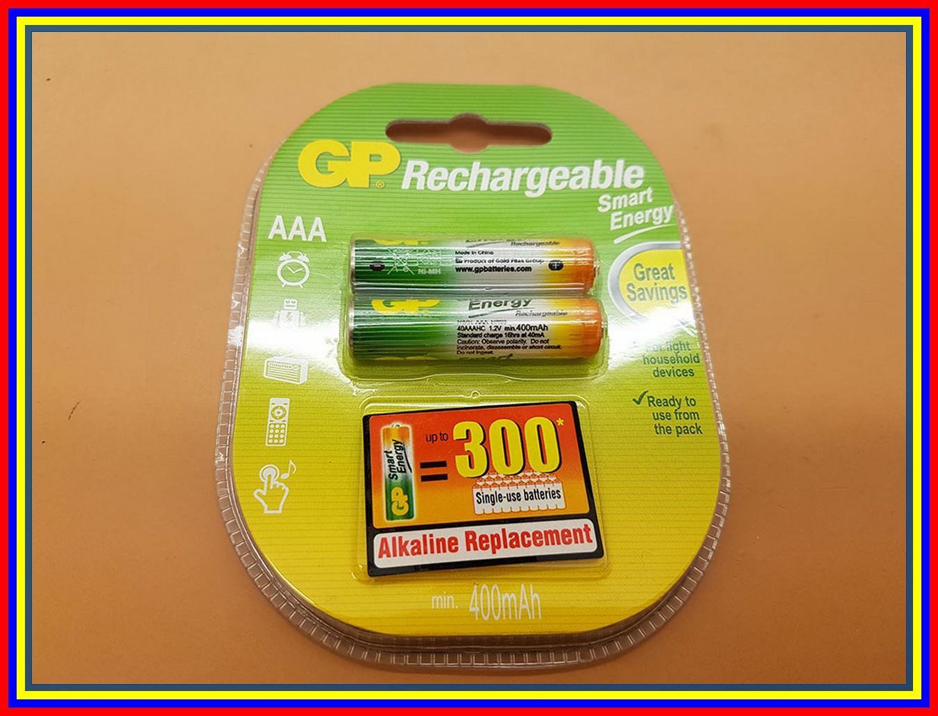 Baterai Gp Aaa 400Mah Battery Gp Rechargeable 400 Mah