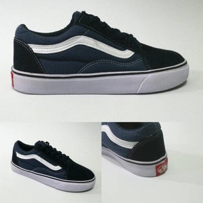 Sepatu Vans Old Skool Blue Navy Grade Ori - Bdugec