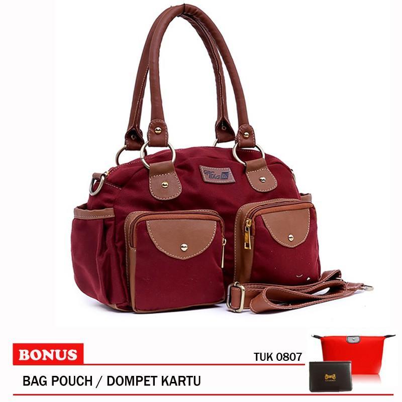 ... Garucci TSD 4072 Tas Clutch Bag Wanita Sintetis Cantik Hitam Kombinasi