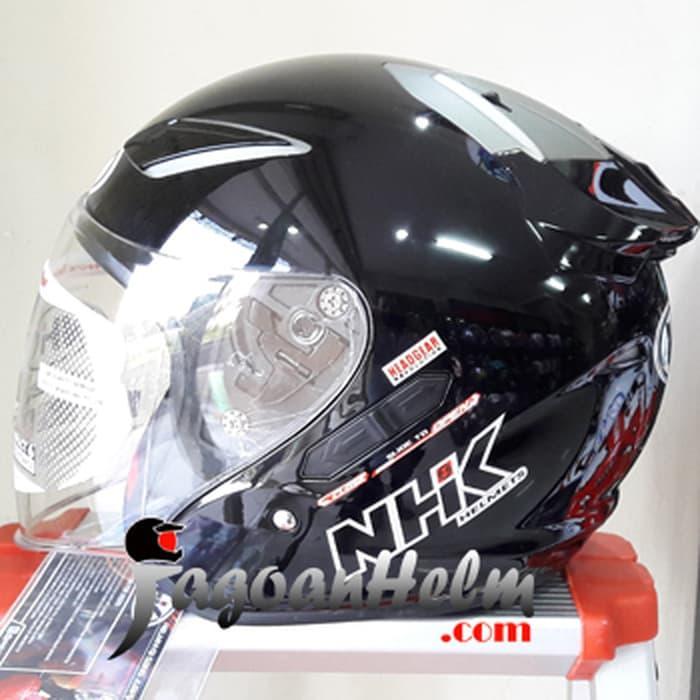 NHK Helm R1 SOLID R 1 Double Visor R-1 XXL Extra Large XL Black Doff || helm kyt / helm bogo / helm full face / helm ink / helm sepeda /helm motor/helm nhk/helm retro/helm anak/helm gm
