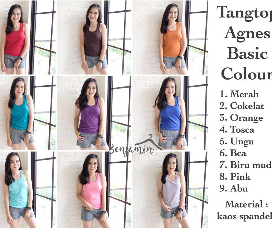 Tanktop Agnes Basic Colour By Benjamin-Co.