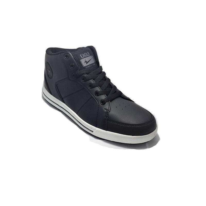 Eagle Cornell Mid Sepatu Sneaker Hitam Putih