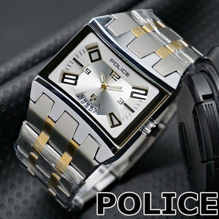 Swiss Army_ POLICE_WATCHES- Jam Tangan Pria - Date Active - Square Design [BEST SELLING] - Jam Tangan Model Kotak
