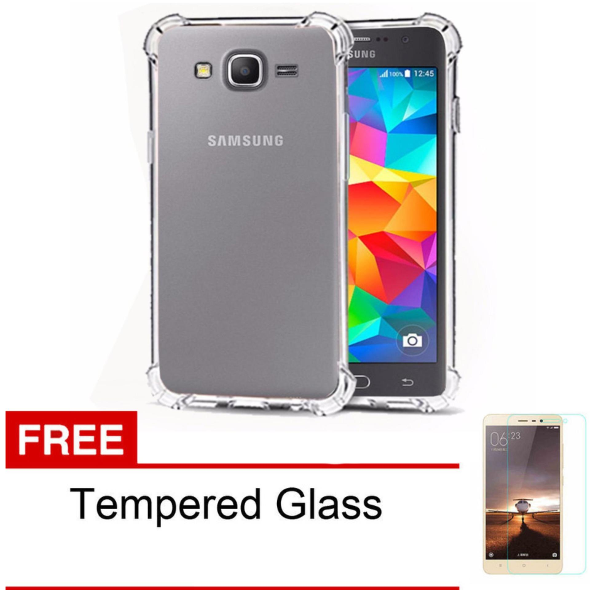Soft Case Anti Crack / Anti Shock Case Samsung Galaxy J2 Prime Kualitas Gred A Bonus Tempered Glass