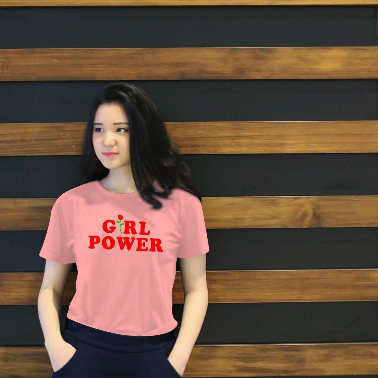 XV Kaos Wanita tee POWER ROSE GIRL / T-shirt Distro Wanita / Baju Atasan Kaos Cewek / Tumblr Tee Cewek / Kaos Wanita Murah / Baju Wanita Murah / Kaos Lengan Pendek / Kaos Oblong / Kaos Tulisan