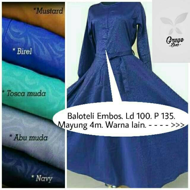 Gamis baloteli embos baju wanita busana muslim tanah abang abaya maxidress overall gaun walimah (lavender)