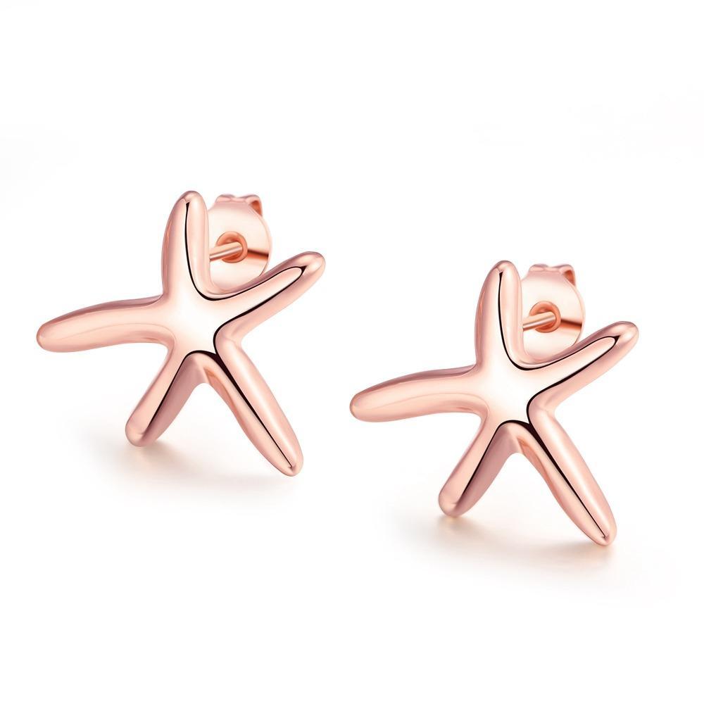 Bella & Co Earrings AKE024 Aksesoris Perhiasan Anting Lapis Emas Rose