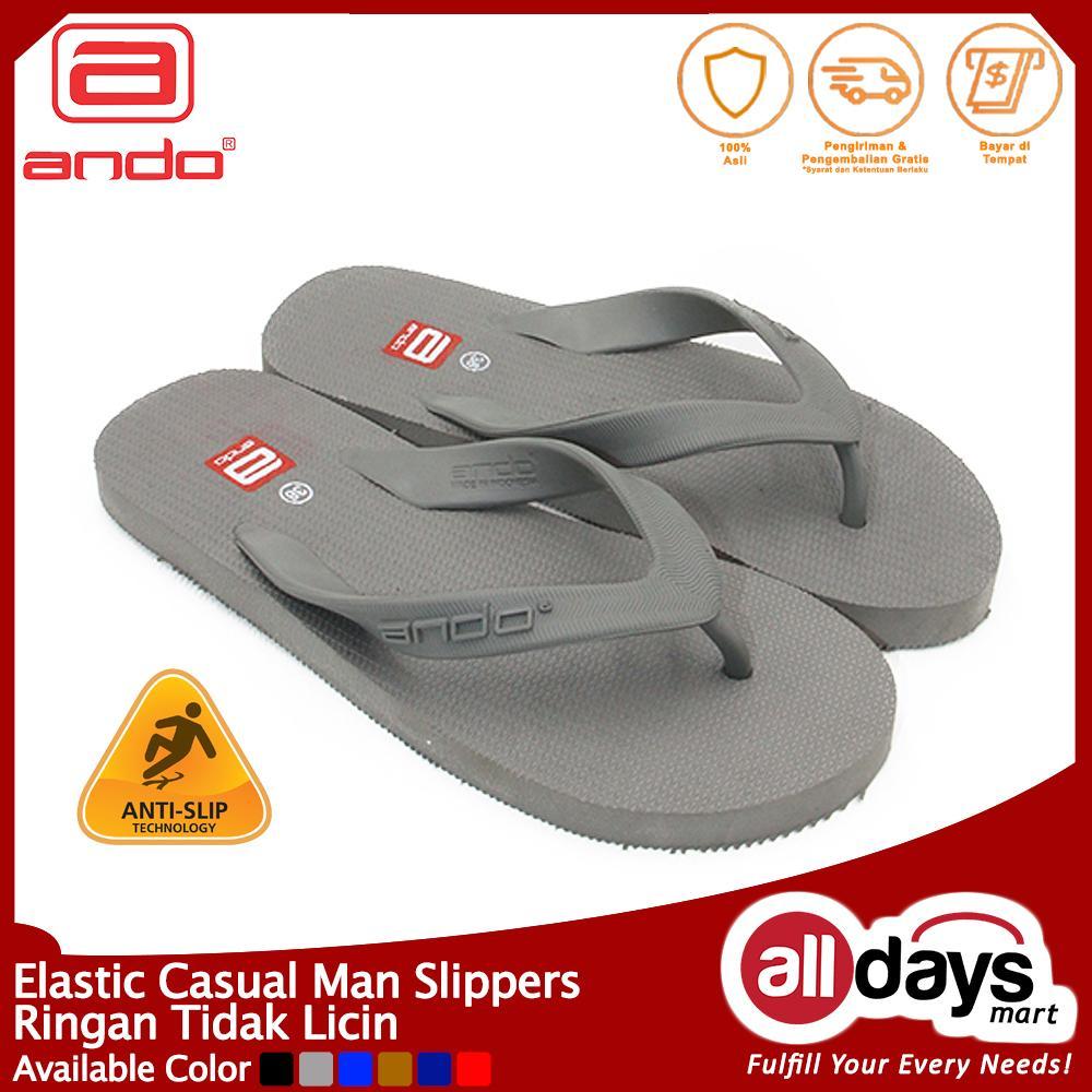 Ando Sandal Jepit Hawaii Man - Abu Tua Size 38-44
