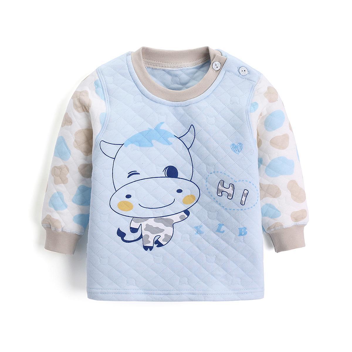 Petpet Penghangat Atasan Musim Dingin 1-3 tahun 2 bayi baju musim gugur Lebih tebal