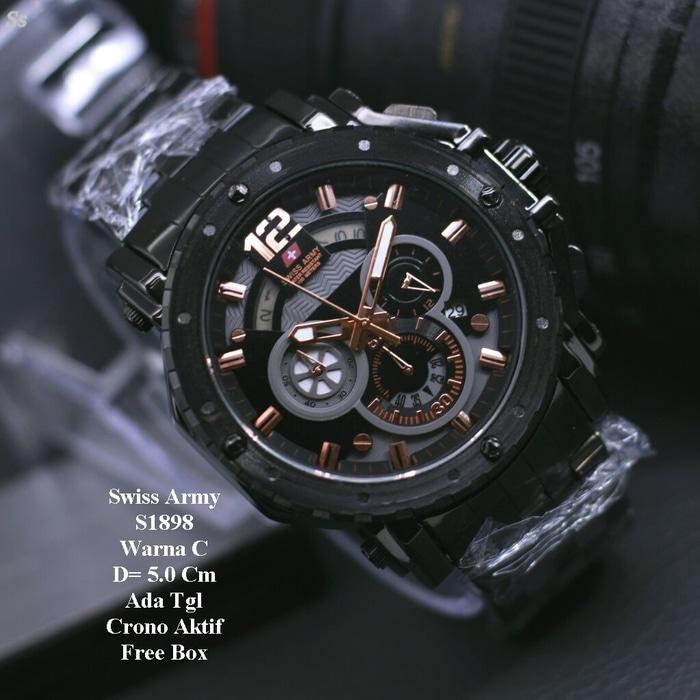 Jam tangan Original Swiss Army -SA9004-Strap Rantai
