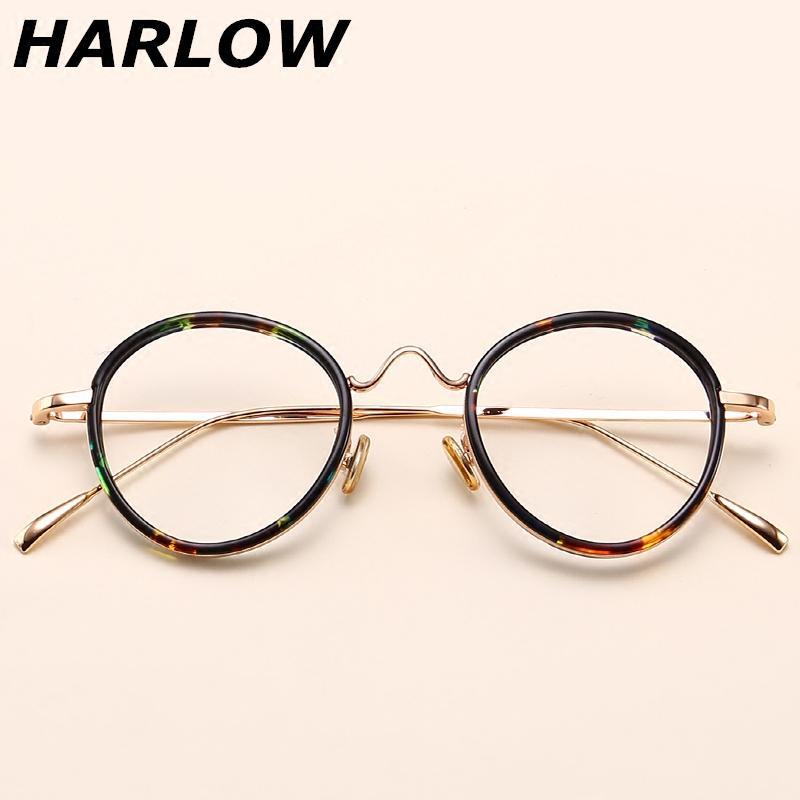 Penyu Sisik Bingkai Kacamata Pria dan Wanita Versi Korea Pasang Retro Wajah  Bulat Makeup Frame Kacamata d17441d5cd