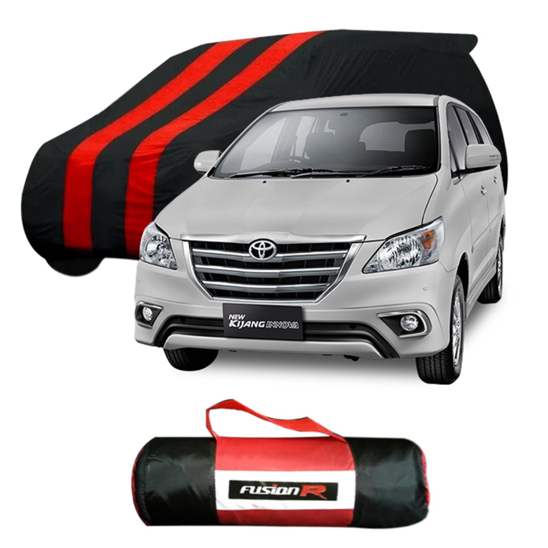 Vanguard Body Cover Penutup Mobil GRAND INNOVA Merah Hitam Waterproof / Sarung Mobil GRAND INNOVA Premium