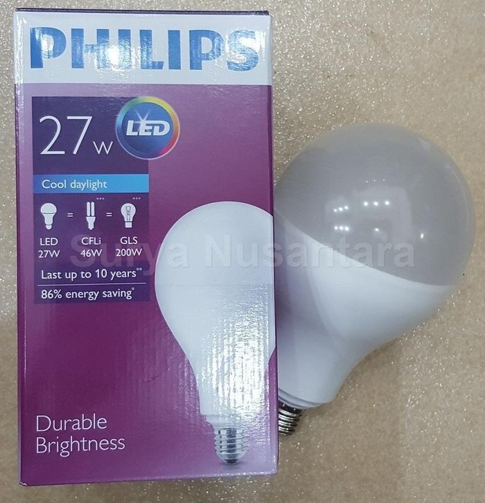 Hemat 10%!! Lampu Led Bulb Ledbulb Philips 27W 27 Watt Hemat Terang Bergaransi - ready stock