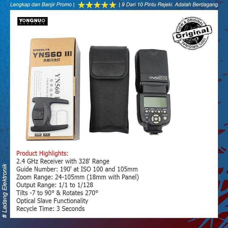 Yongnuo Flash YN-560 III For Canon / Nikon Flash Kamera