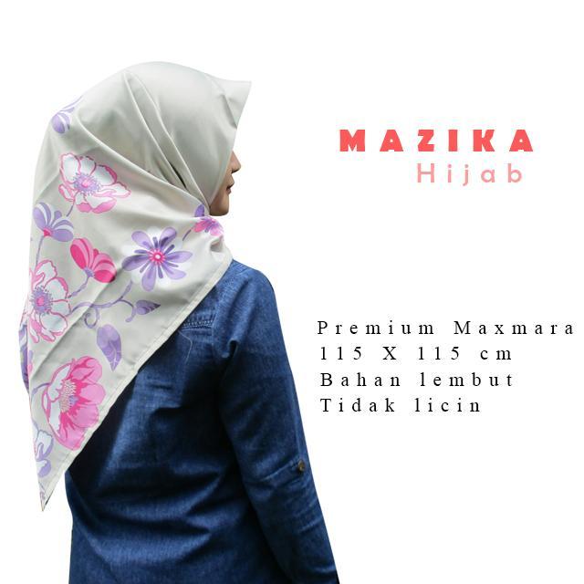 WarungSiBoss Hijab Segi Empat / Hijab Motif / Jilbab Segi Empat / Jilbab Motif / Kerudung Segi Empat / Kerudung Motif Maxmara Premium Pesona - Khaki by Mazika Hijab