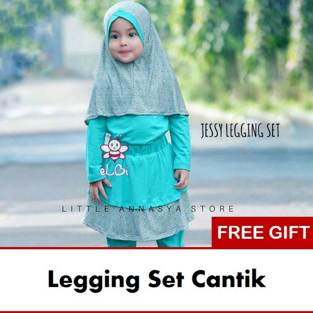 eLBi - Baju Muslim Anak Perempuan / Baju Muslim Balita Perempuan / Gamis Anak / Baju Muslim Anak / Baju Muslim Bayi Perempuan / Baju Pesta Anak Muslim / Jessy Series