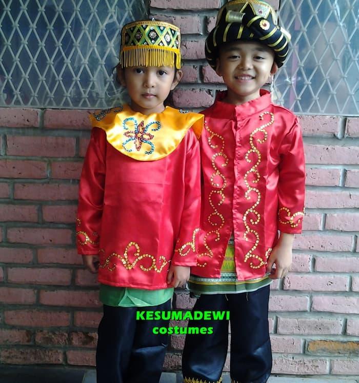 Terbaru! Aceh Pria Sd1-3| Baju Adat Kostum Karnaval Pentas Seni Anak Daerah - ready stock
