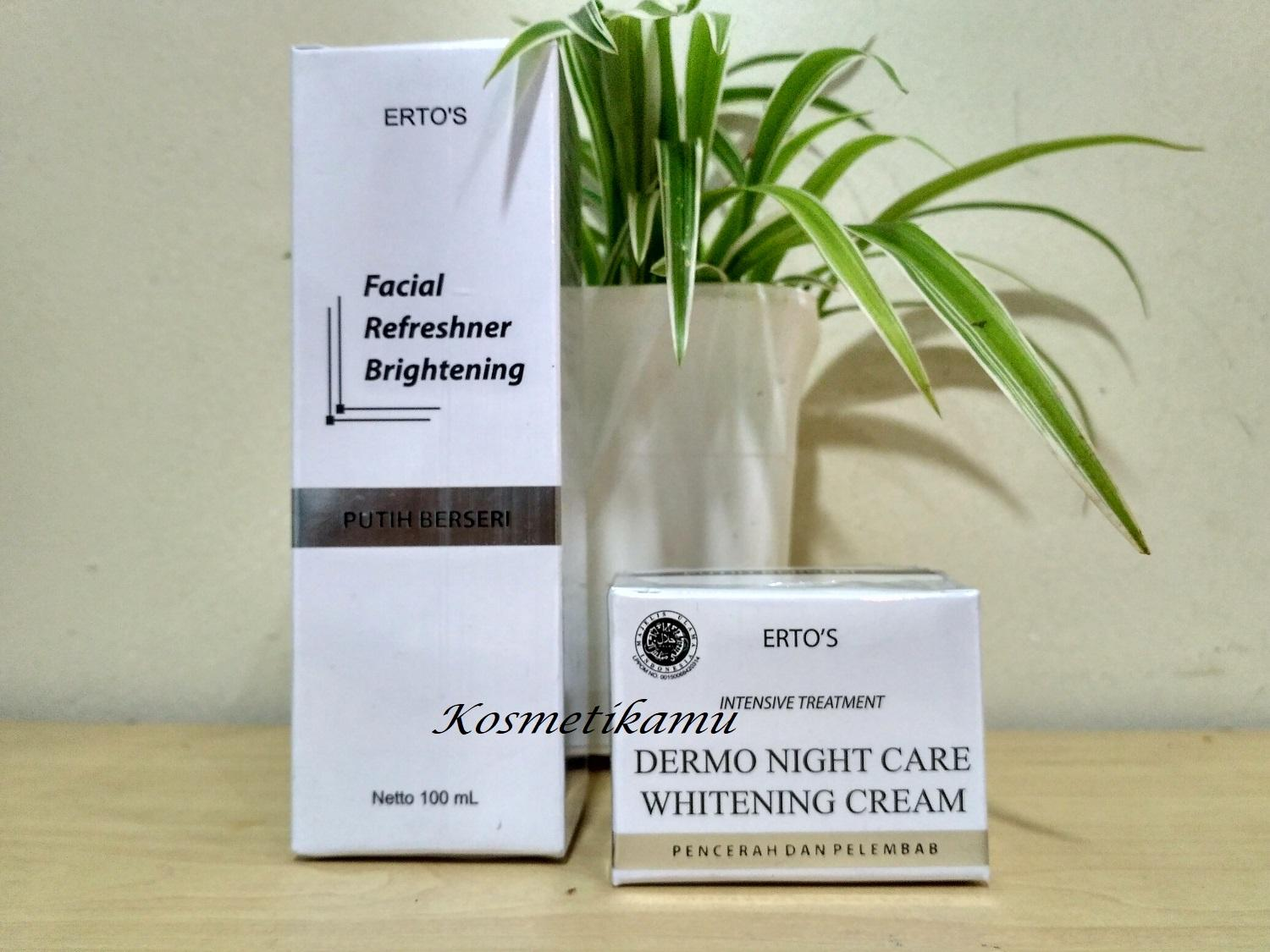 Buy Sell Cheapest Ertos Whitening Series Best Quality Product Paket Lengkap 3 Pemutih Dermo Night Care Cream