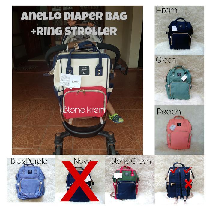 Anello Diaper Bag Tas Perlengkapan Bayi Tas popok bayi - Cek Stock