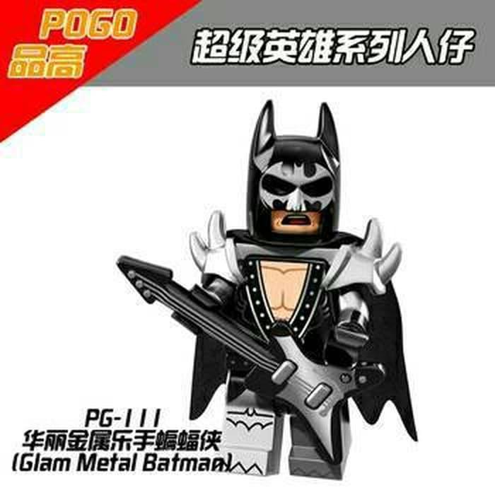 BEST SELLER!!! Glam Metal Batman PG111 DC Super Heroes Minifigure Lego KW - N9abLE