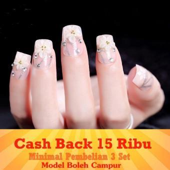Harga preferensial JBS Nails Kuku palsu wedding 3D - A39 beli sekarang - Hanya Rp30.200