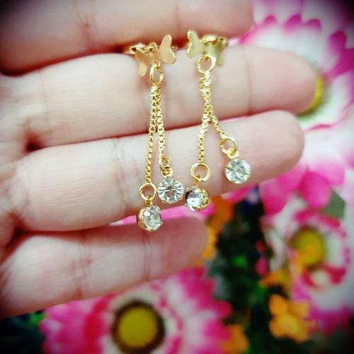anting kupu2 mata cantik xuping gold