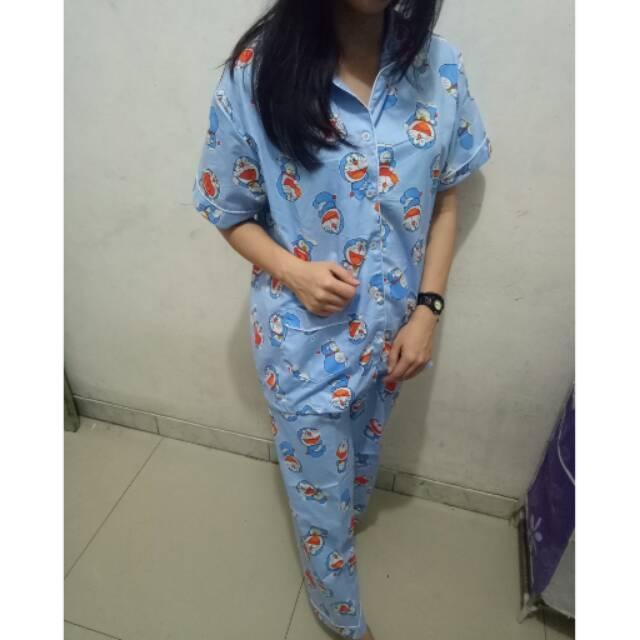 RX Fashion Piyama Pajamas Doraemon Kecil CP Bahan Katun Jepang Fitl 1R
