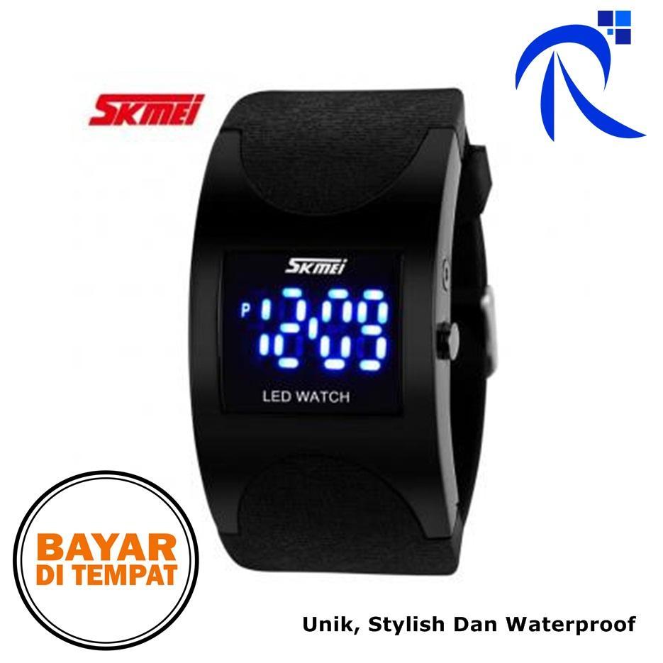 COD SKMEI Silicon Sport Wristband Jam Tangan LED Gelang Watch Water Resistant 50m Tali Silicone Karet