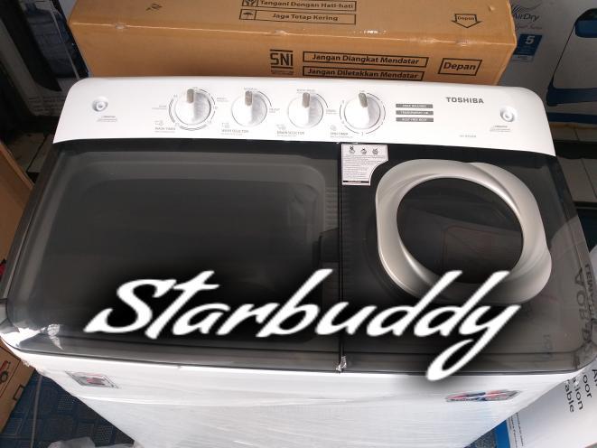 Harga Diskon!! Toshiba Mesin Cuci 2 Tabung Vh-H75Mn 7.5Kg - Jabodetabek - ready stock
