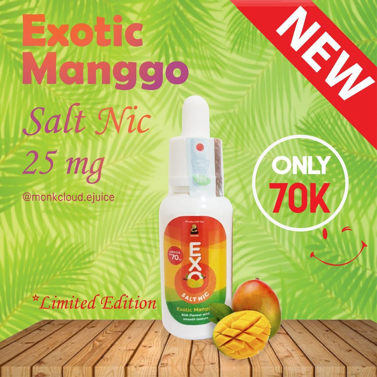 EXO Exotic mango Salt Nic 25mg Premium Liquid 30ml vape vapor