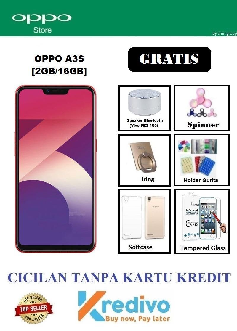 Oppo A3s Ram 2GB/16GB - Cicilan Tanpa Kartu Kredit + Gratis Speaker Bluetooth,dll