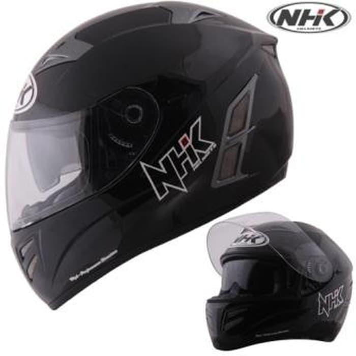 Helm NHK Terminator Solid Full Face Fullface Black
