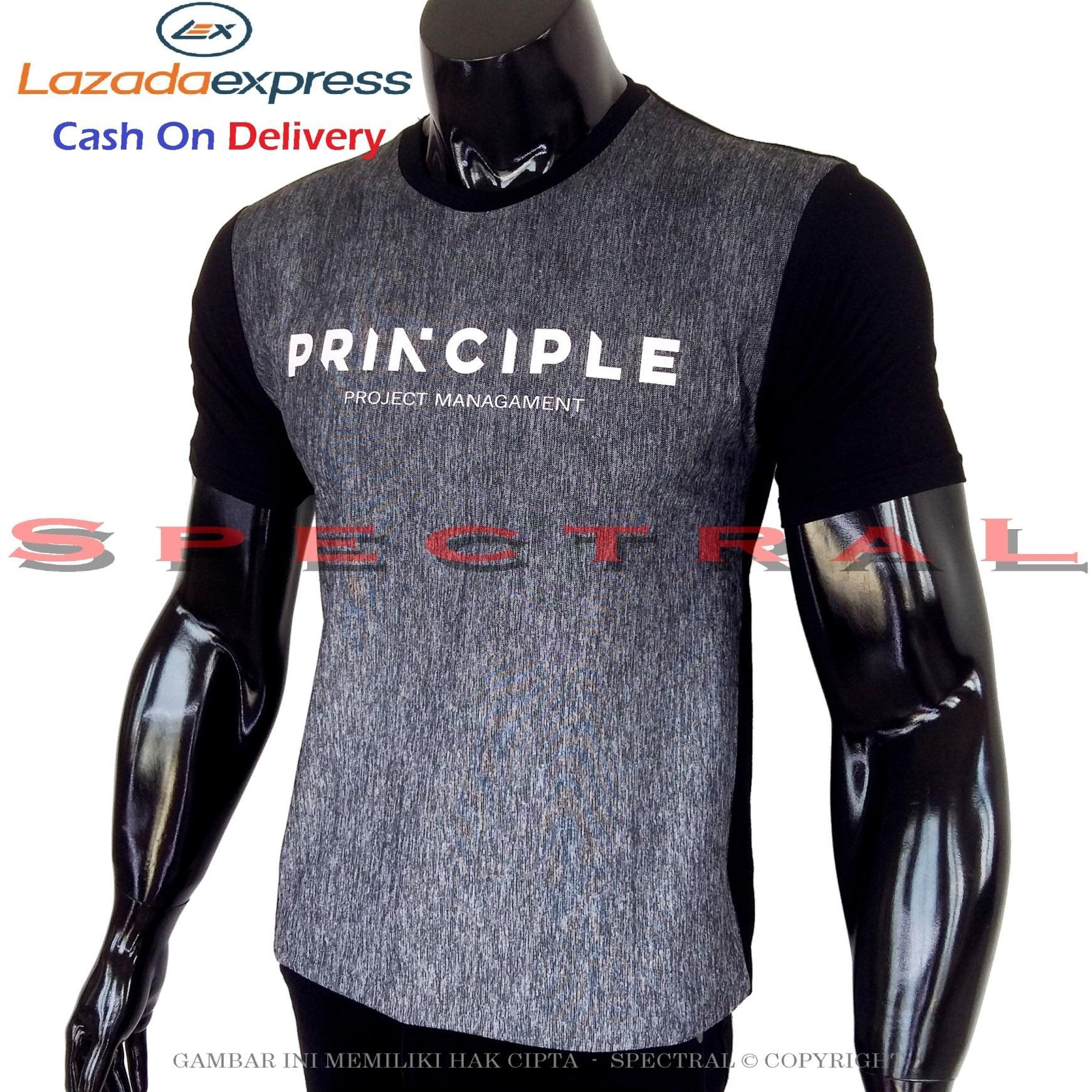 Spectral - Kaos Distro PRINCIPLE Prinsip Soft Rayon Viscose Lycra Pola M Fit To L Simple Fashionable Tidak Pasaran