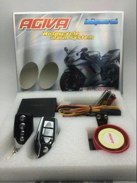 BEST SELLER!!! Alarm Motor Agiva Fitur Lengkap + Cara Pasang Premium - 1Vn05j