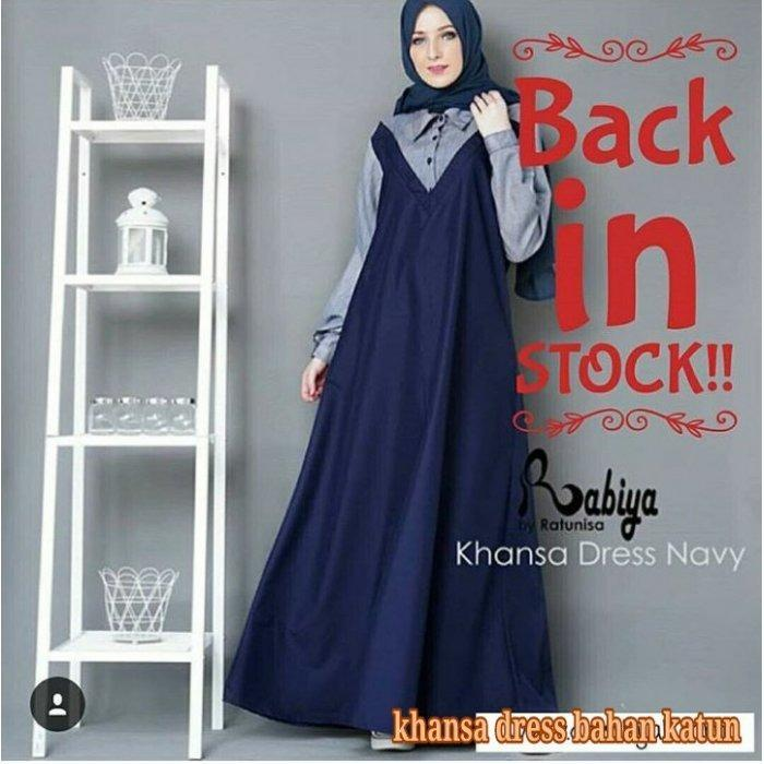 Gamis Khanza Dress Simple Elegant