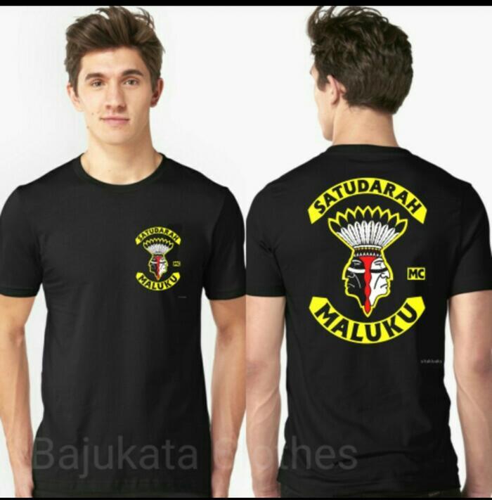T Shirt Kaos Baju Satu Darah Maluku Mc - ready stock