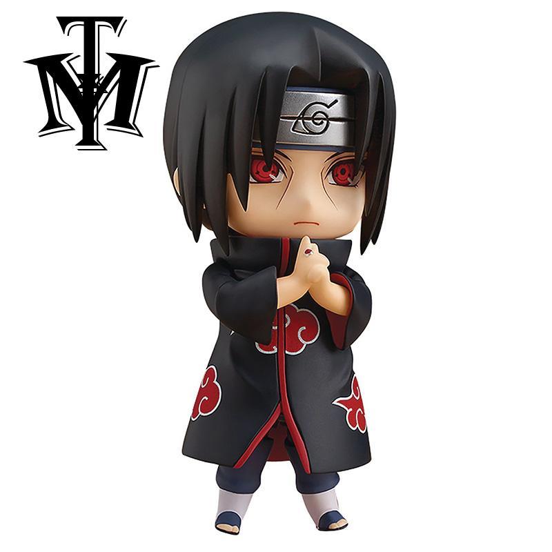 Anime Naruto Nendoroid 820 Uchiha Itachi Sasuke Uzumaki Action Figure Naruto Mainan PVC Koleksi Boneka Modello Ritel Box-Intl