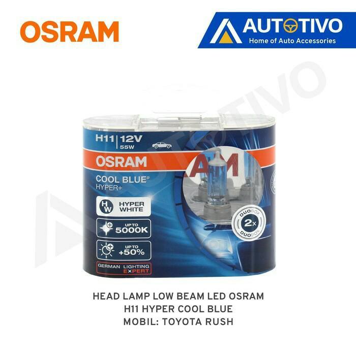Toyota Rush Osram Lampu Depan (Low Beam) Hyper Cool Blue H11