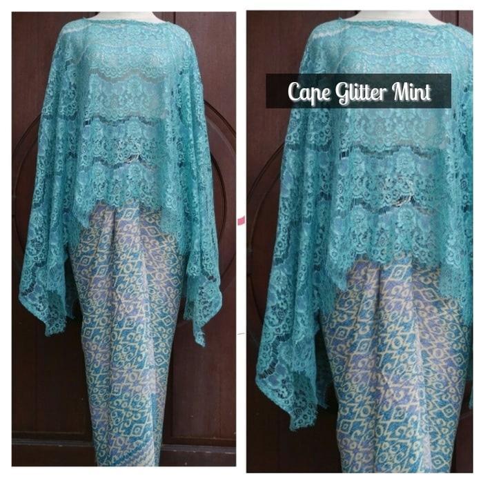 Debbie Gallery Stelan Kebaya Cape brukat glitter/kebaya modern/kebaya batik modern / Kebaya Modern / Gamis / Gaun Pesta Muslimah / Baju Muslim Wanita / GPS