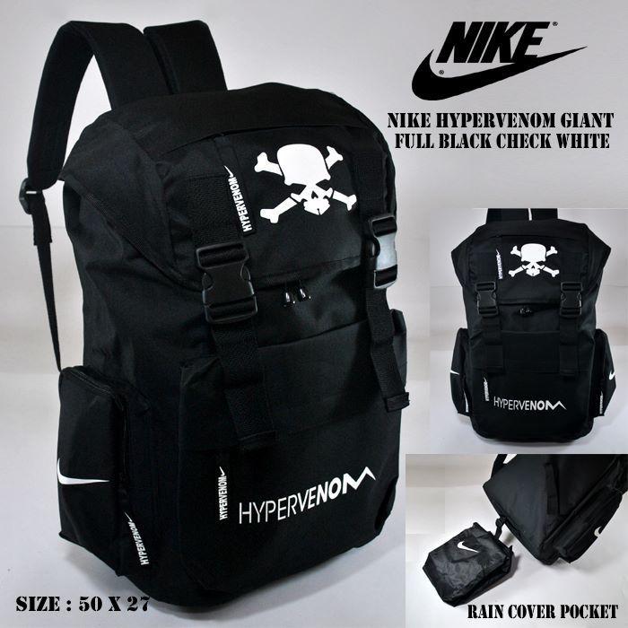 Backpack Nike Hypervenom Giant Black Check White